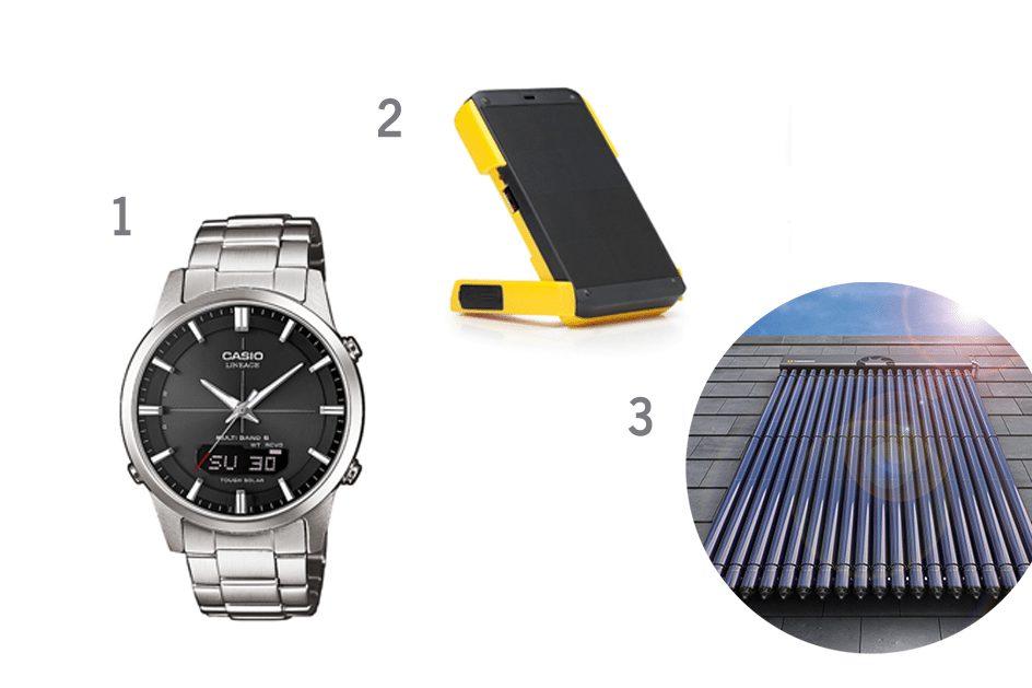 gadgets de l'energie solaire